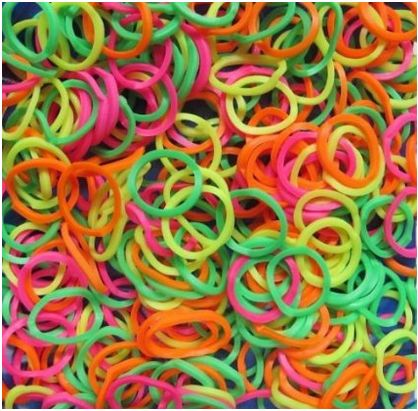Awesome deal on these Rainbow Loom Neon Rubber Bands