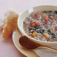 curried red lentil and swiss chard stew with garbanzo beans bon ...