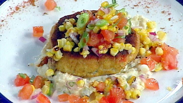 Corn And Cod Cakes Recipe — Dishmaps