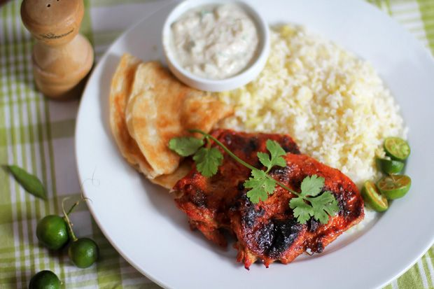 ... chicken tandoori chicken tandoori chicken with tomato cucumber raita