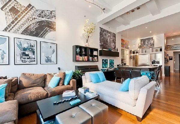 stunning living room interior in cozy apartment design in new york