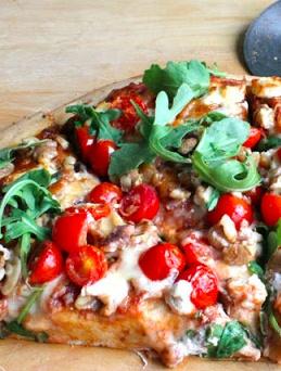 Arugula, Tomato, & Goat Cheese Pizza | Food | Pinterest