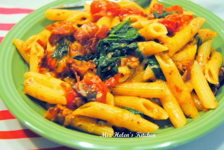Bacon and Greens Pasta