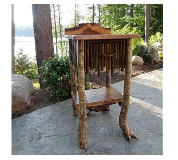 ... Adirondack Rustic End Tables. on adirondack style rustic furniture