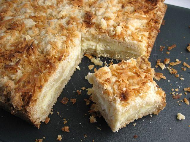 Coconut Cream Bars Recipe — Dishmaps