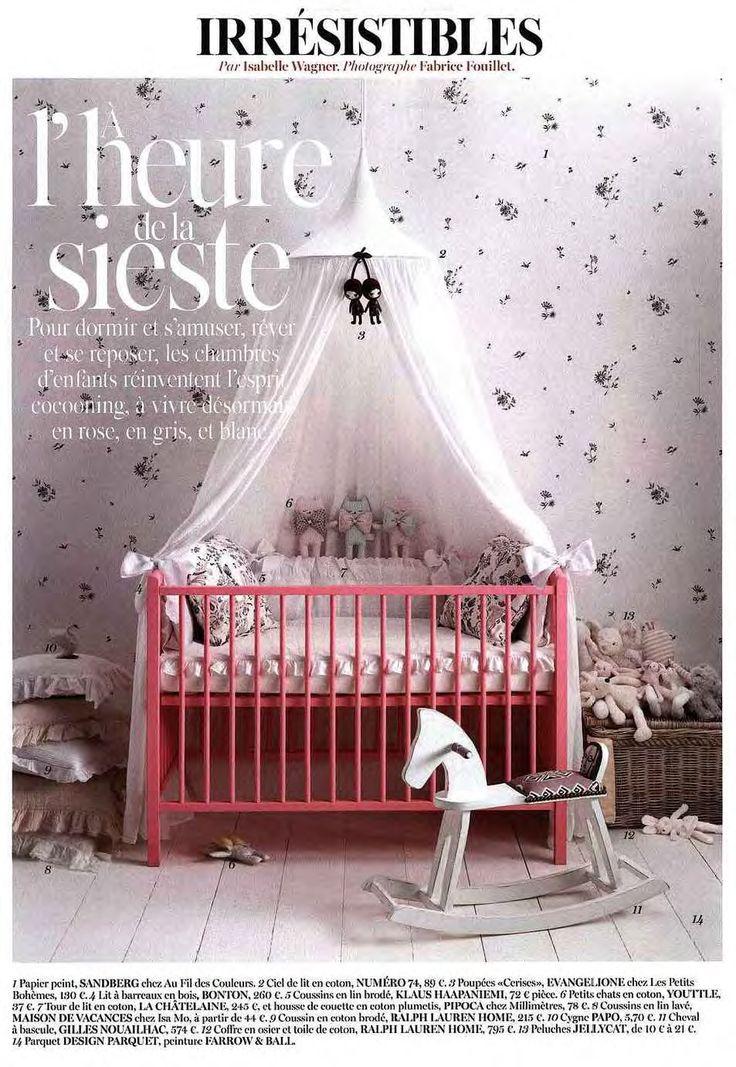 Cuisine Oignon Rouge : Papier peint ElseMarie de Sandberg dans une chambre de petite fille