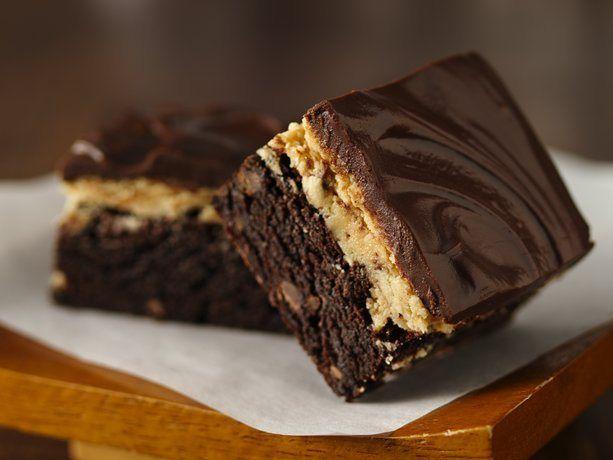 Peanut Butter Truffle Brownies http://www.bestyummyrecipes.com/peanut ...