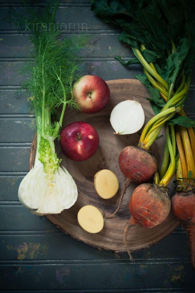 Roasted Beet & Fennel Apple Soup | KiranTarun.com #roastedvegetables # ...