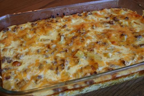 Sausage & potato breakfast casserole   Breakfast & Brunch   Pinterest