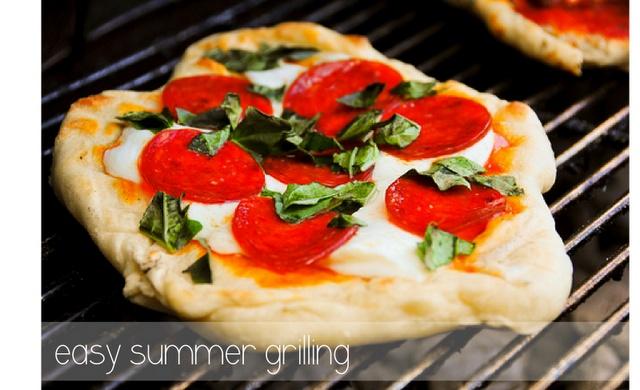Pesto and Ricotta Pizza grilled | La Cucina | Pinterest