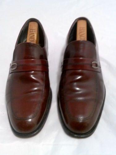 Vintage Hanover Burgundy Dress Shoes Oxfords & Wooden Shoe Trees