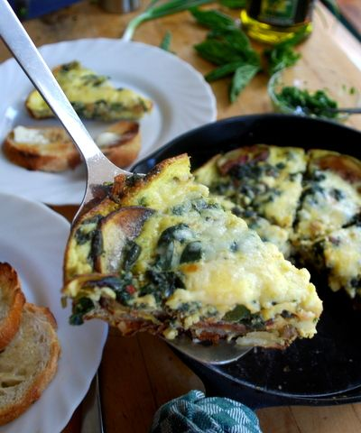 Swiss Chard-Roast Potato Frittata | Breakfast Yums | Pinterest
