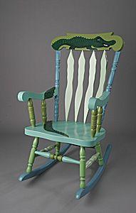 painted rocking chair  Painted Rocking Chairs  Pinterest