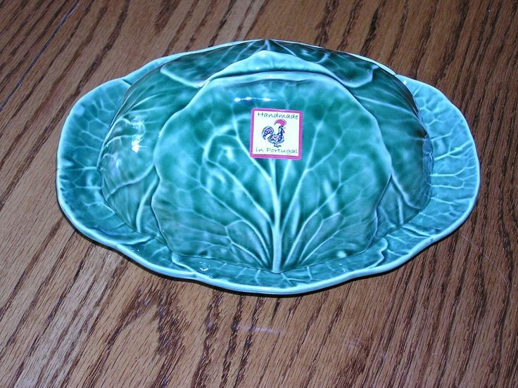New bordallo pinheiro portugal green cabbage leaf majolica - Bordallo pinheiro portugal ...