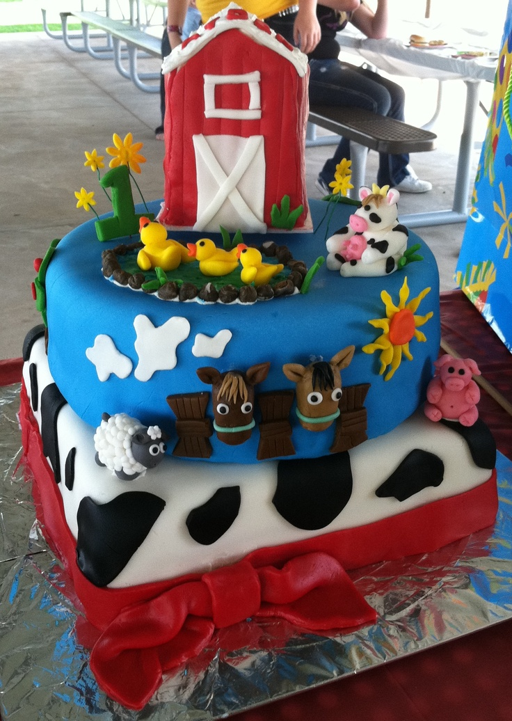 Cake Decoration Farm Theme : Farm Themed Birthday Cake cake ideas Pinterest