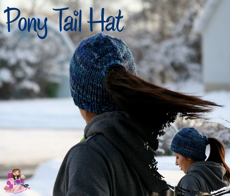 Pony Tail for cover   Knitting: Hats and Head bands   Pinterest