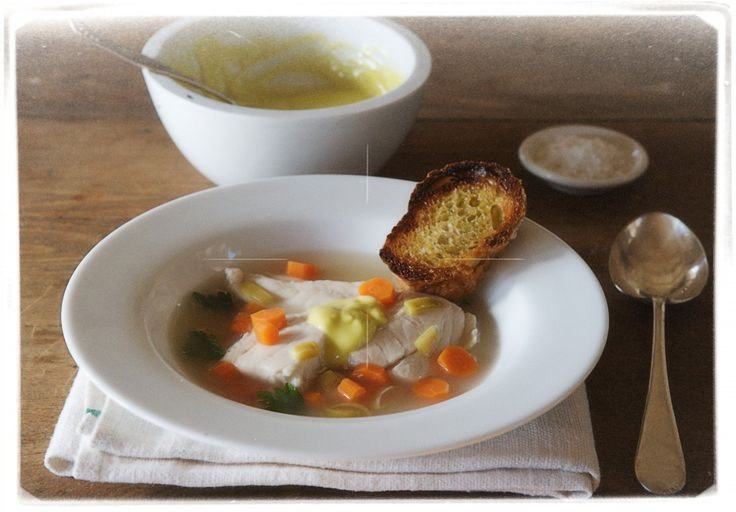 Provençal-Style Fish Soup with Rouille and hot toast from Alice Water ...