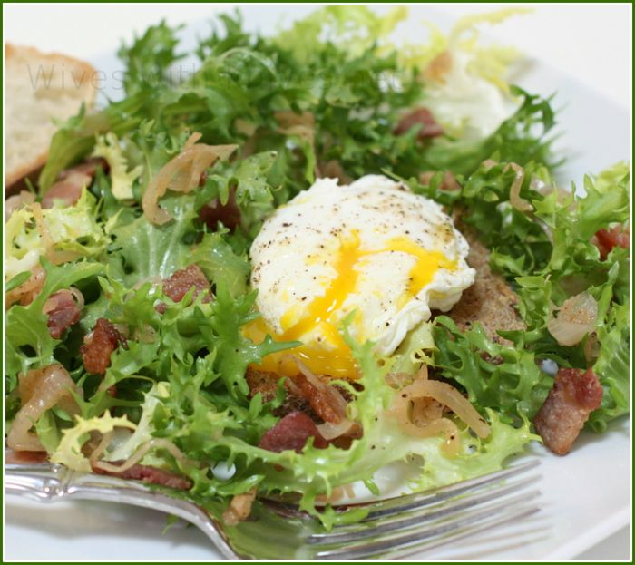 French Frisee Salad with Poached Egg and Bacon | Wives with Knives