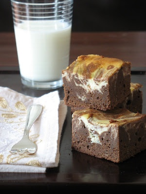 Marbled Ricotta Cheesecake Brownies | Yummilicious | Pinterest