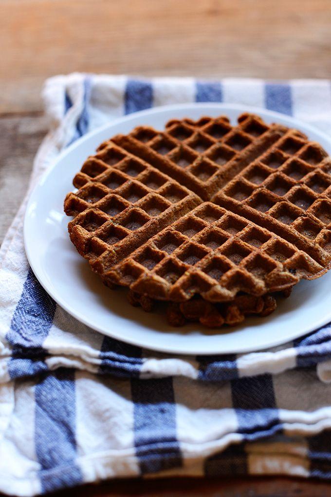 Vegan Whole Grain Waffles with Roasted Stone Fruit| Minimalist Baker ...