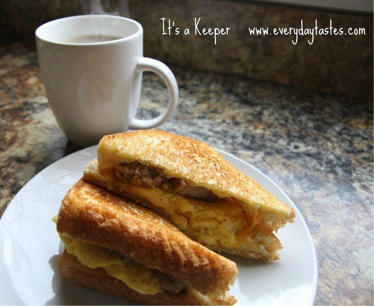 Cowboy Breakfast Sandwiches | De-lish Breakfasts | Pinterest