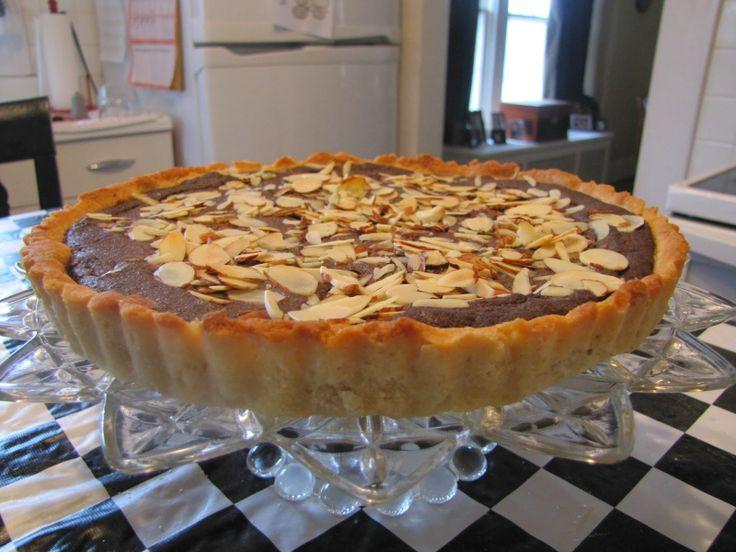 Almond & Chocolate Tart ~ Faithfulness Farm