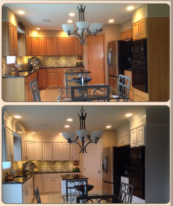 Before and after kitchen remodel in the kitchen for Kitchen remodel ideas before and after