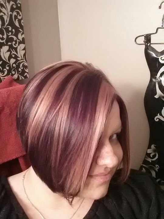 Dark Hair With Eggplant Highlights Hairs Picture Gallery