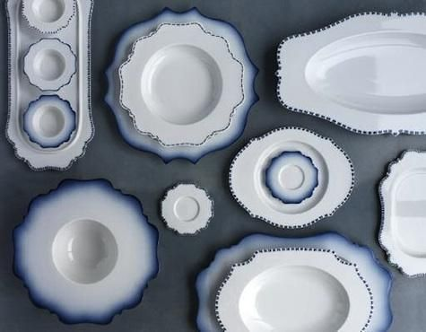 taste blue tableware