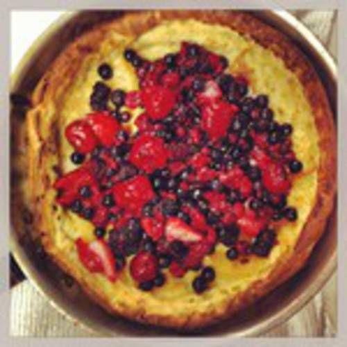 Double Berry Puff Pancake Recipe — Dishmaps