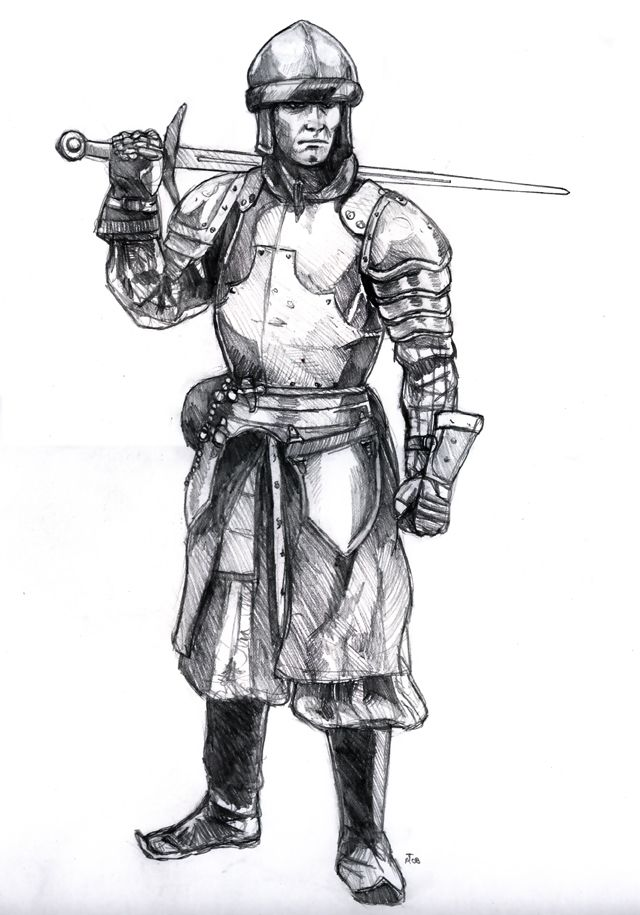 Medieval knight by old stone road on deviantart