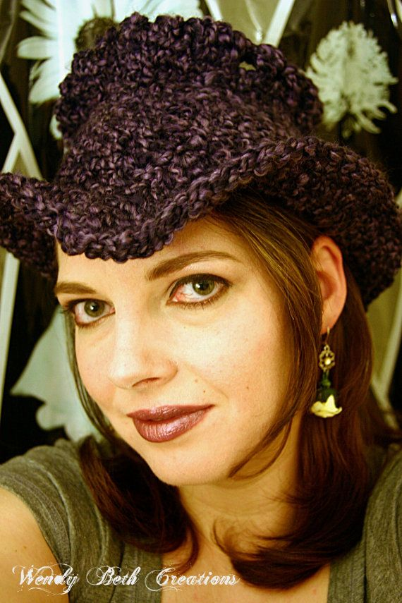 Best Hat Ever - Gothic - Purple Black Heather by WendyBethCreations