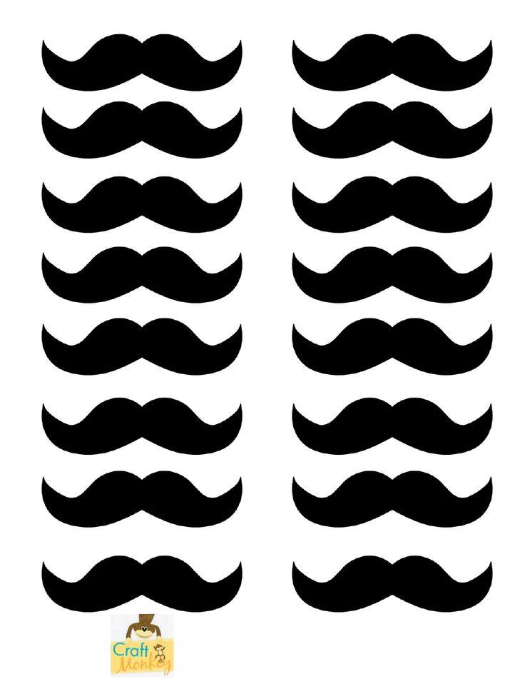 mustach template - printable moustache joy studio design gallery best design