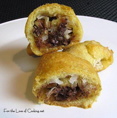 Chocolate, Coconut & Pecan Crescent Rolls... YUM!