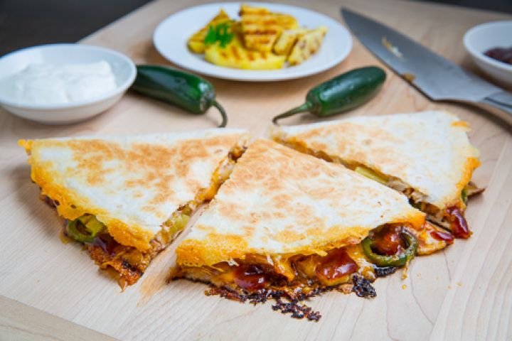 BBQ Chicken and Pineapple Quesadillas Recipe