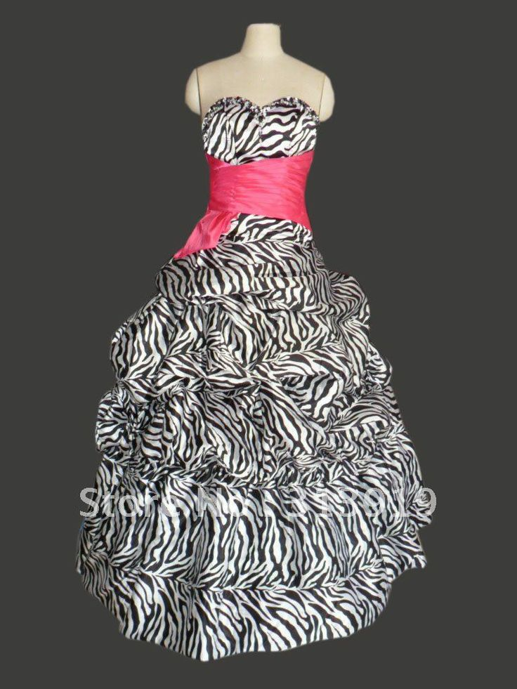 Zebra Prom Dresses 78