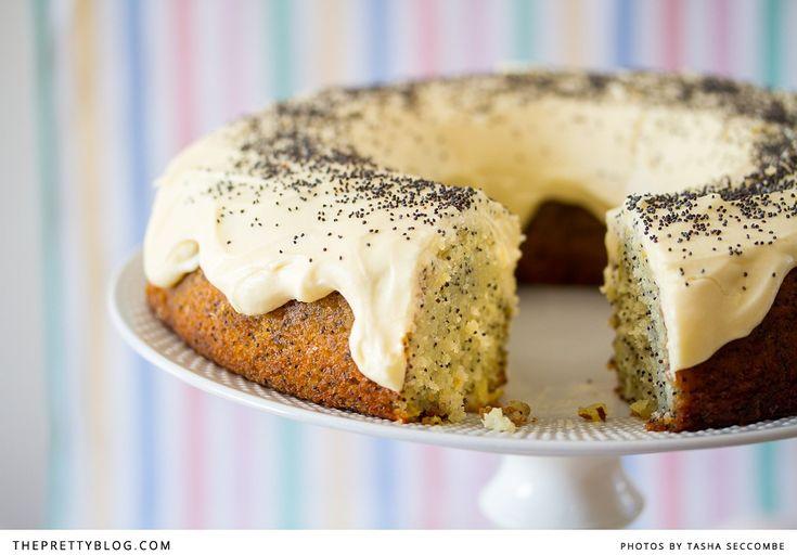 Lemon & Poppy Seed Cake {Easter Recipe} | Recipes | The Pretty Blog