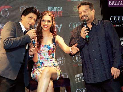 Shah Rukh Khan and Deepika Padukone in conversation with Vir Sanghvi