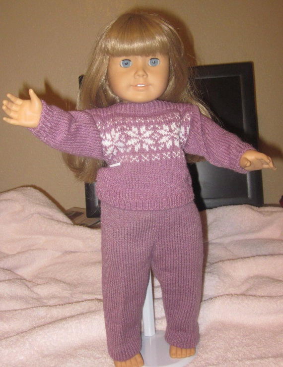 Machine Knitting Pattern for 18 inch doll/American Girl dolls. Any similar pattern would be great. Doesn't have to be this one.   $4.99