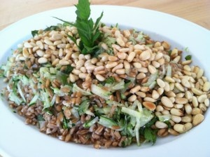 rare beef salad with miso spinach 03 111 a orzo salad greek orzo salad ...