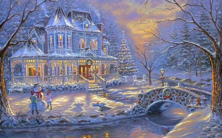 beautiful christmas scene christmas pinterest. Black Bedroom Furniture Sets. Home Design Ideas