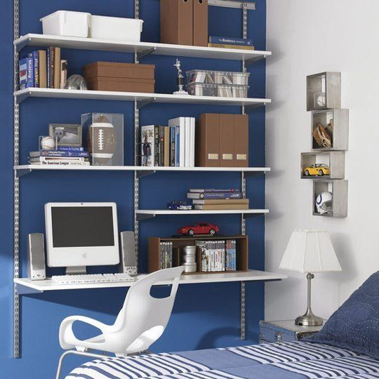 The best closet sized home office desks - Container store home office ...