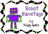 robot nametags