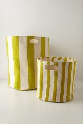 Candy-Striped Basket