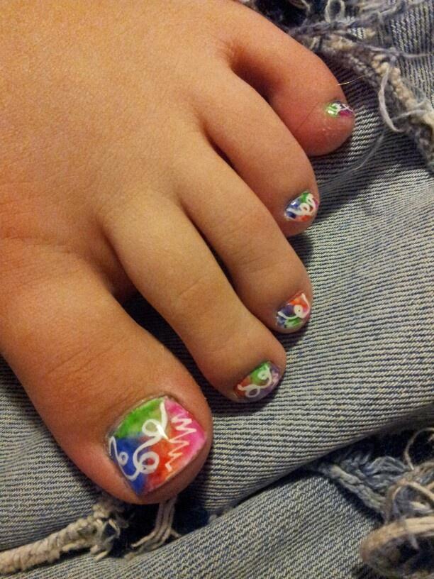 Gel Toe Nails | Cute toes | Pinterest
