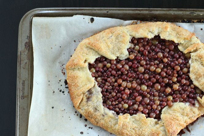 Rustic Champagne Grape Galette - gorgeous!