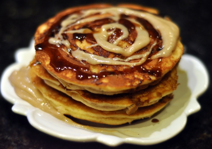 Cream Cheese Pancakes with Brown Sugar Glaze and Cinnamon Cream Cheese ...