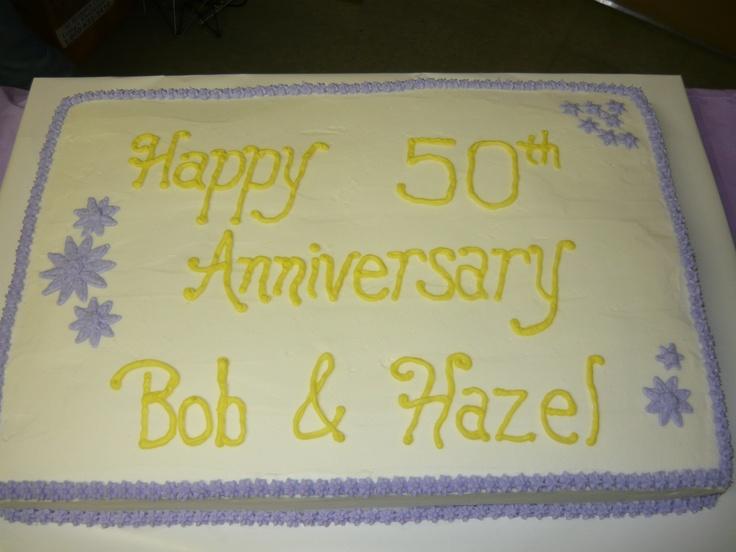 Sheet Cake Designs For Anniversary : Anniversary Sheet Cake MY CAKES Pinterest