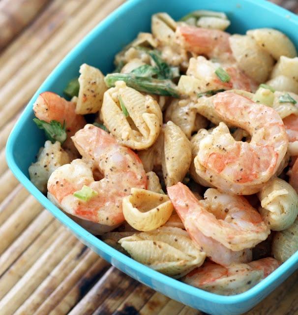 Deviled Shrimp Pasta Salad | Thinking outside the wok | Pinterest