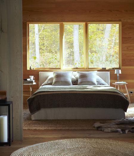 Tapis Chambre Bebe Montreal : Chambre à coucher au coeur de la nature  Chalet  Pinterest